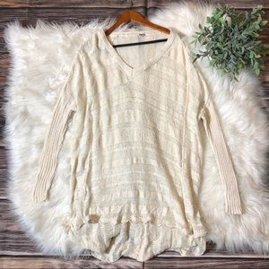 Free People Ribbed Oversized Chunky Sweater